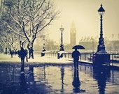 London photography for sale, Rain, British, London Art, Umbrella, UK London Wall Art 8x10 - LondonDream