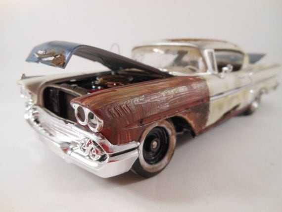 1958 Chevrolet Impala 1/24 scale model car in white