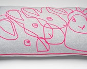 Big Neon Rabbit Pillow, 60x40 cm. - Lalalabel