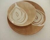 Modern Hand Painted Ceramic Salad Plate - StudioMaMae
