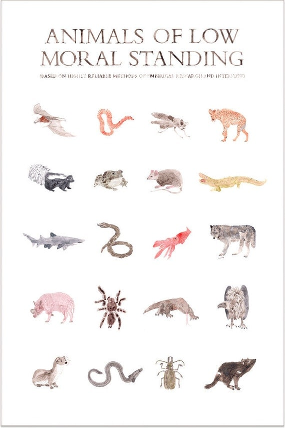 Animals of Low Moral Standing Print