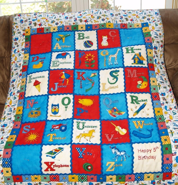 Made to Order - Toddler Boy's ABC Quilt
