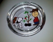 decorative charlie brown christmas peanuts gang linus lucy snoopy woodstock hand painted ashtray wine glass cups mugwedding father day - Deziray