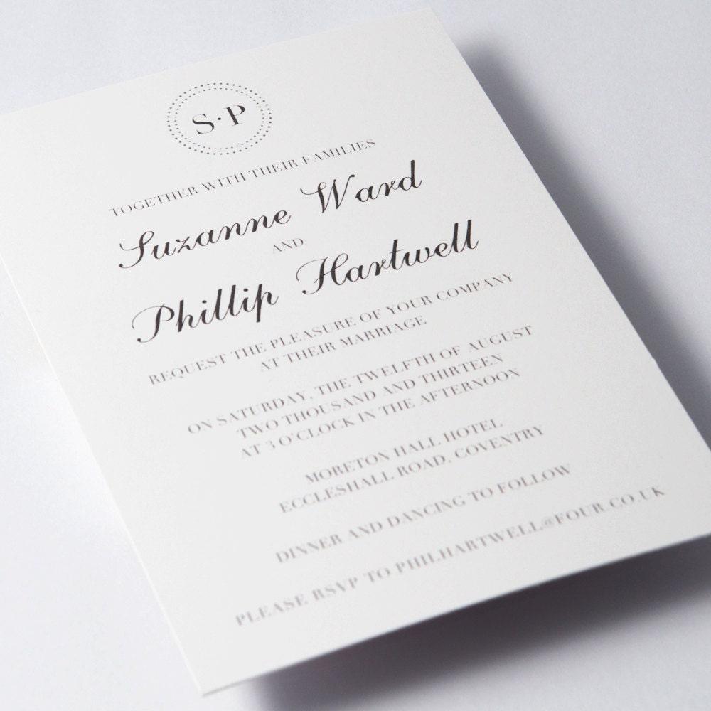 Rexcraft Wedding Invitations