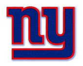 New York Giants Logo 090 - Machine embroidery design - Applique and filled stitches