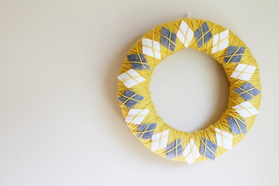 Argyle Yarn Wreath