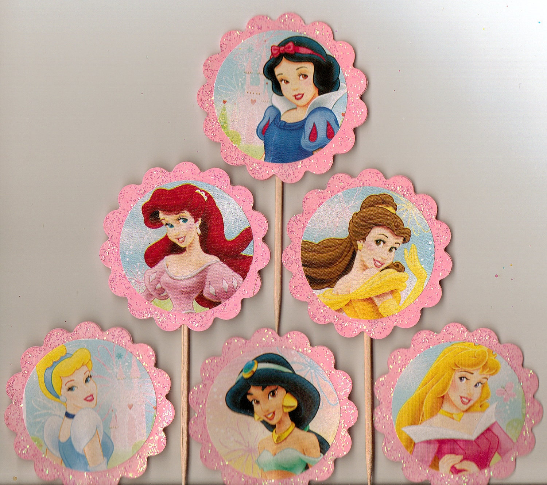 Cake Topper Disney Princess : Disney Princess Cake Toppers Set