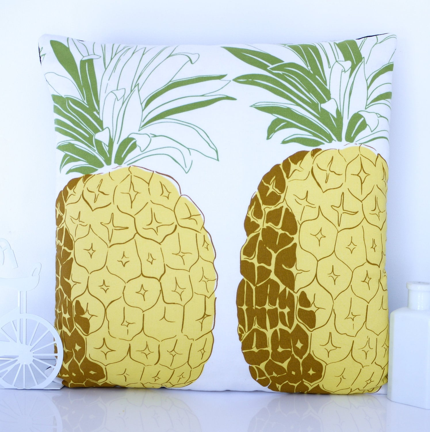 Pineapple cushion cover pineapple pillow by HenriettaAndMorty