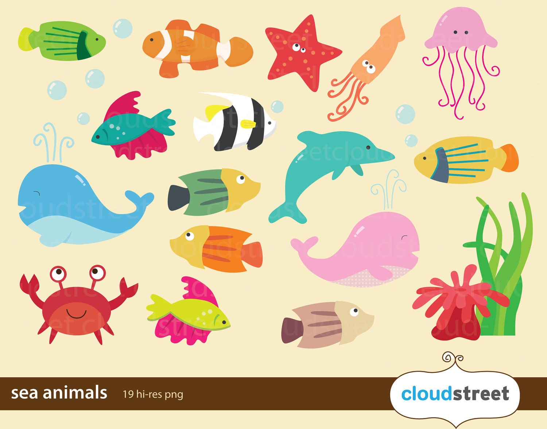 Ocean+animals+clip+art