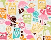 GIRLY OWLS & CRITTERS - 11x14 Waterproof Zippered Wet Bag