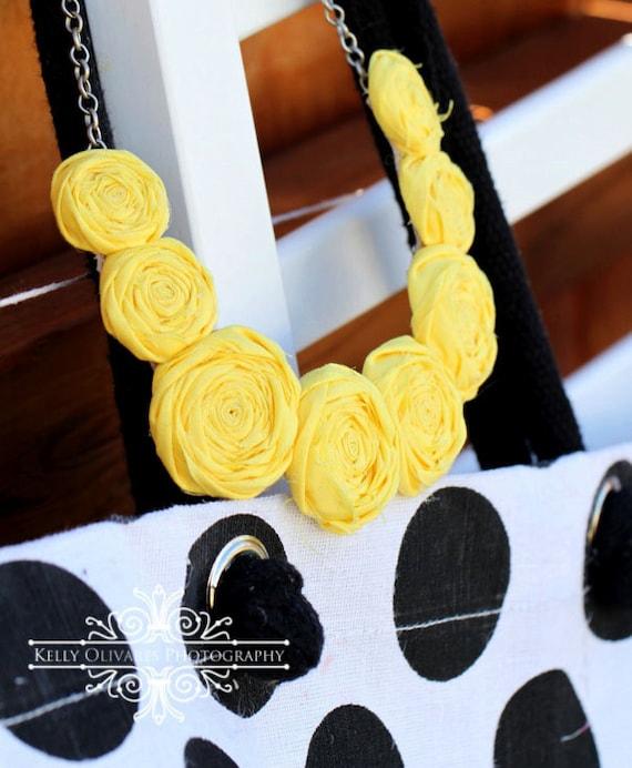 Eloise Multi-Rosette Necklace CUSTOM COLORS AVAILABLE