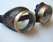 Steampunk Goggles Air Pirate Eyewear Bioshock Glasses -  Burning man - OntheWingsofSteam