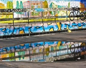 Bike Reflection Photography - Graffiti - London, England - 8 x 10 Print - PhotoLarks