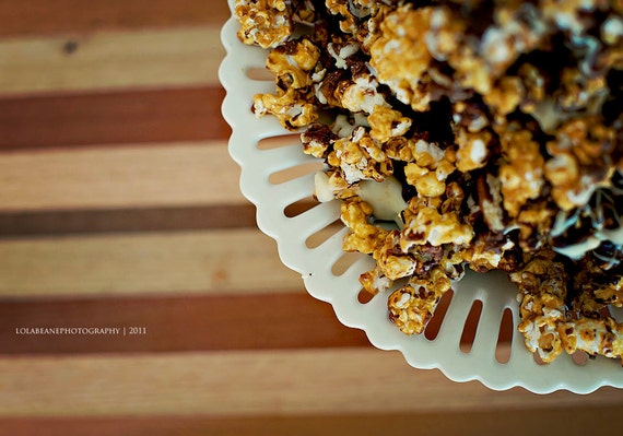 Triple Chocolate Caramel Popcorn