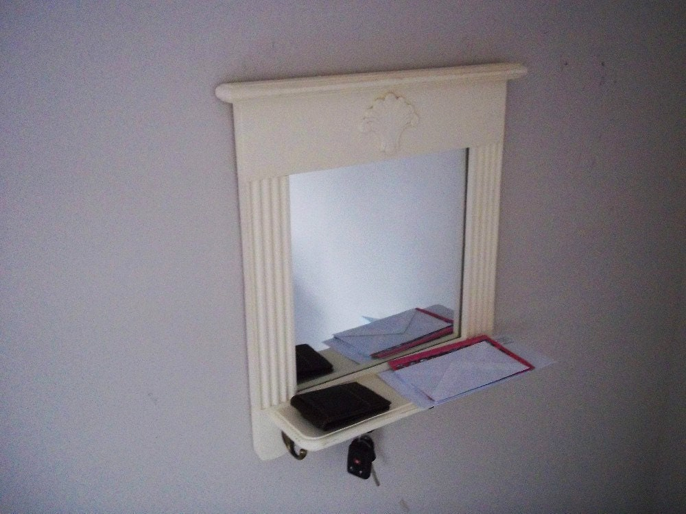 Mirror With Shelf And Key Hooks ------furniture, Entry Mirror ...
