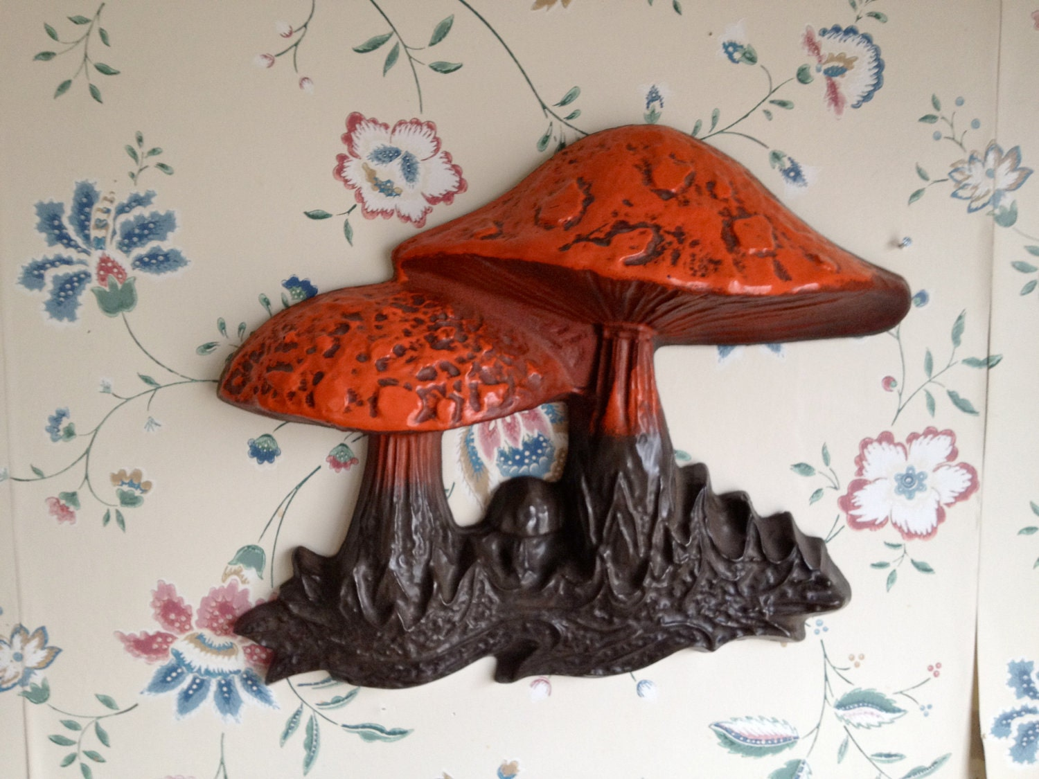 Trippy Mushroom Hanging Vintage Wall Decor / by FromtheLandofOz