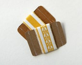 autumn fabric ribbon set of 2 - greenbugmarketplace