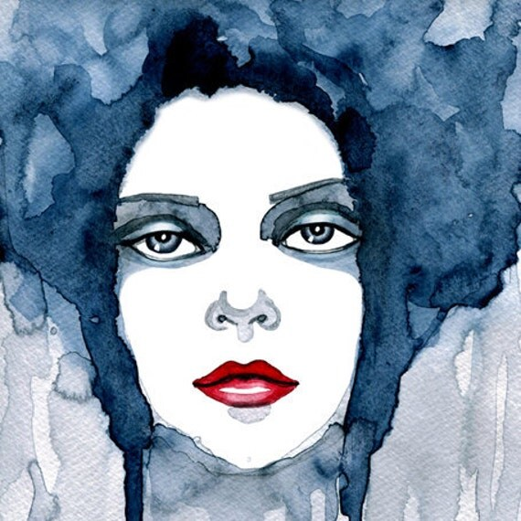 "Watercolor ""Bluebell"" portrait - limited edition print"
