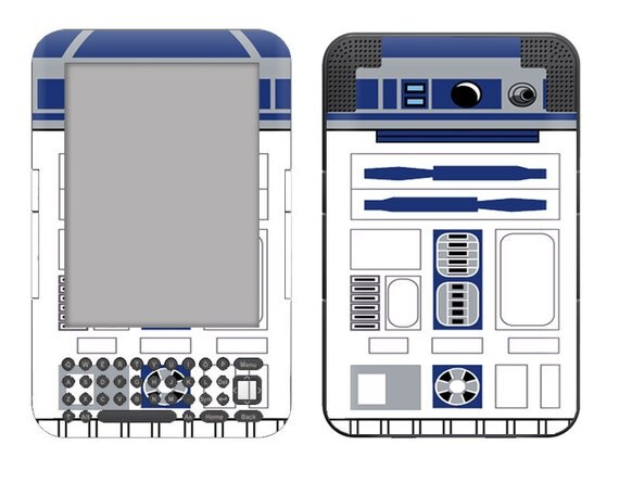Amazon Kindle 3 / Keyboard Skin Cover - R2D2