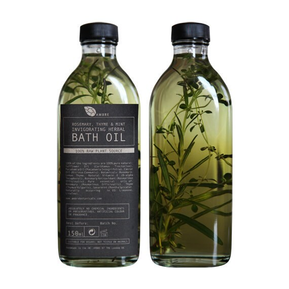 Rosemary, Thyme and Mint Invigorating Herbal Bath Oil