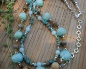 Jade & Jasper, Multistrand Necklace with Tibetan Silver