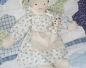 Vintage Doll with Baby Handmade Primitive Cloth Country - NanNasThings