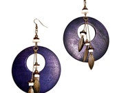 Deep Purple Wooden Dangles