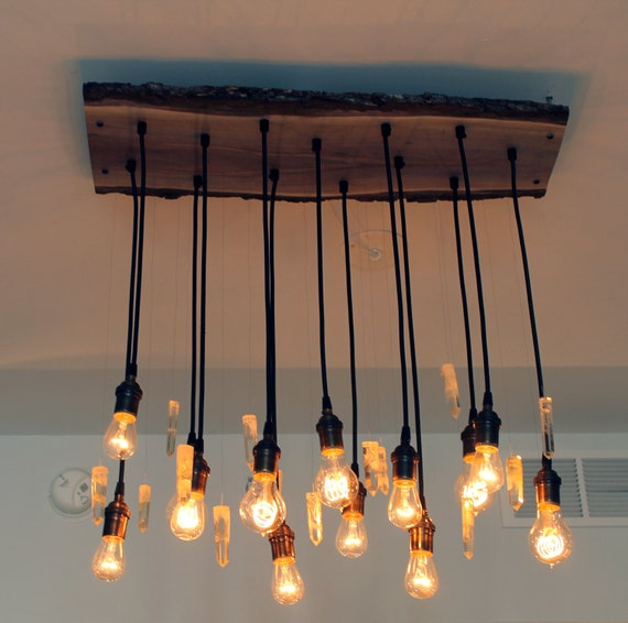 14 Light Diy Mason Jar Chandelier Rustic Cedar Rustic Wood: Decorating With Etsy