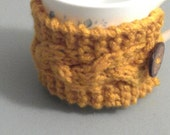 Golden Yellow Coffee Cup Cozy