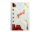 "Journal entitiled, ""Spirit.""  Anthropologie Style with Bright Rainbow Colors. 5 in by 7 in with 80 lined sheets."