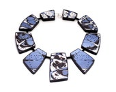 Blue Statement Necklace, Contemporary Art Jewelry - JagnaB