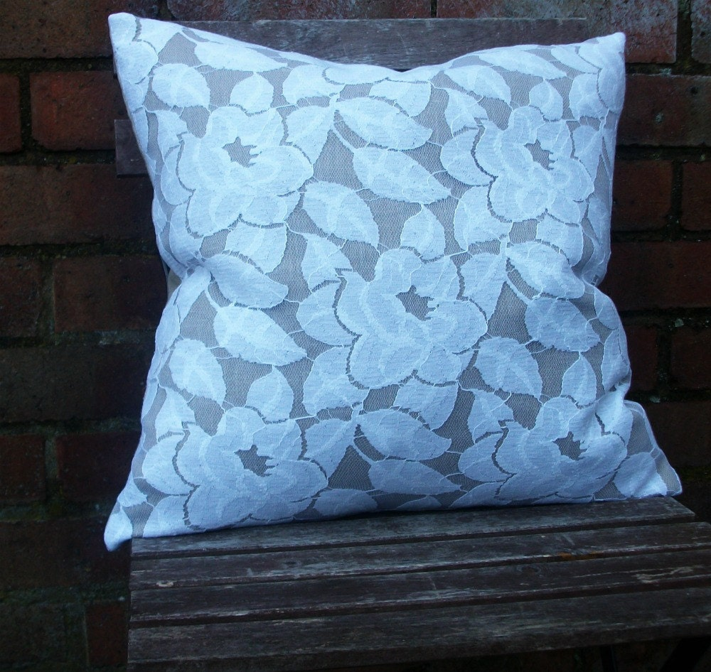 Sale Decorative Pillow/Cushion Cover in Beige by HomeDecorLab