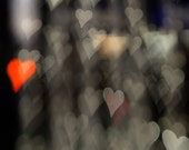 Abstract Heart photo, bokeh photo, bokeh heart photo, love photo, My Floating Heart - 8x10 fine art photograph - pixamatic