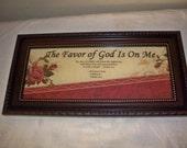 Inspirational Framed WORD Art /The Favor Of God Is On Me