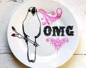 Singing Bird OMG - Hand Drawn Plate