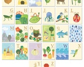 Nature's Alphabet - 26 illustrated wall cards - missjillmcdonald