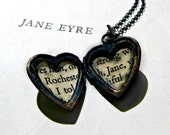 Jane Eyre Heart Locket - PhoenixAndHawkstag