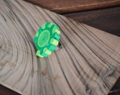 Adjustable paper ring - quilling - green