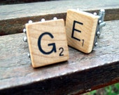 Scrabble Tile Cuff Links  Choose Your Own Letters - writeaboutit