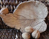 Light Brown Leaf Plate - Ceraminic