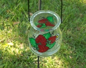 Painted Strawberry Lantern