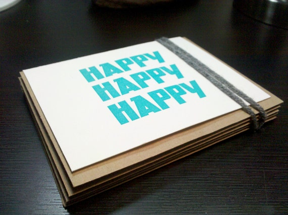 Set of 10 Letterpress Cards