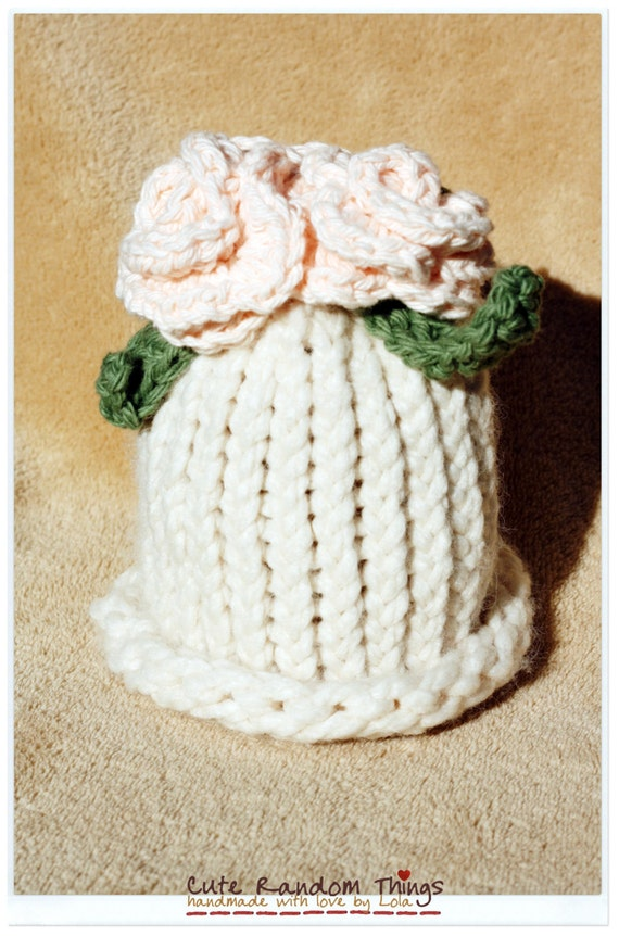 Cute little Old Lady-. Knitted baby hat