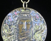 Antique Pendant Mid 1800s Byzantine Class Collectable Pendant.