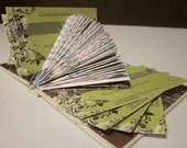 Book Sculpture / Altered Book Business Card Holder - Virgo - TheBookCellar