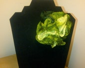 Free US Shipping: Shades of Green Crocheted Ruffled Pin