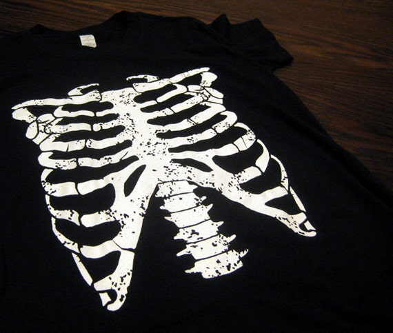 Rib Cage Skeleton Horror Punk Goth Halloween Costume WOMENS T-Shirt Your Choice of S,M,L,XL,2XL