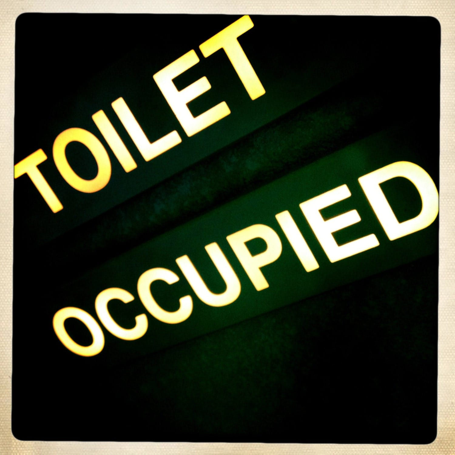 Printable occupied restroom signs just b cause for Occupied bathroom sign