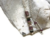 Tourmaline Multi Colored and Artisan Sterling Silver Necklace ... Unique Simplicity - OpheliaJaine