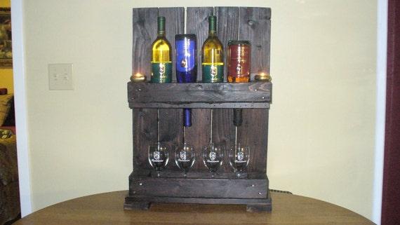 "De madera rústica Wine Rack 28 ""X18"" X7 """
